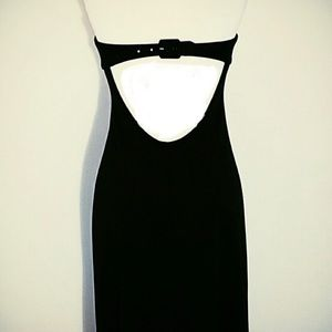 Vintage BCBG long black strapless dress size 0-2